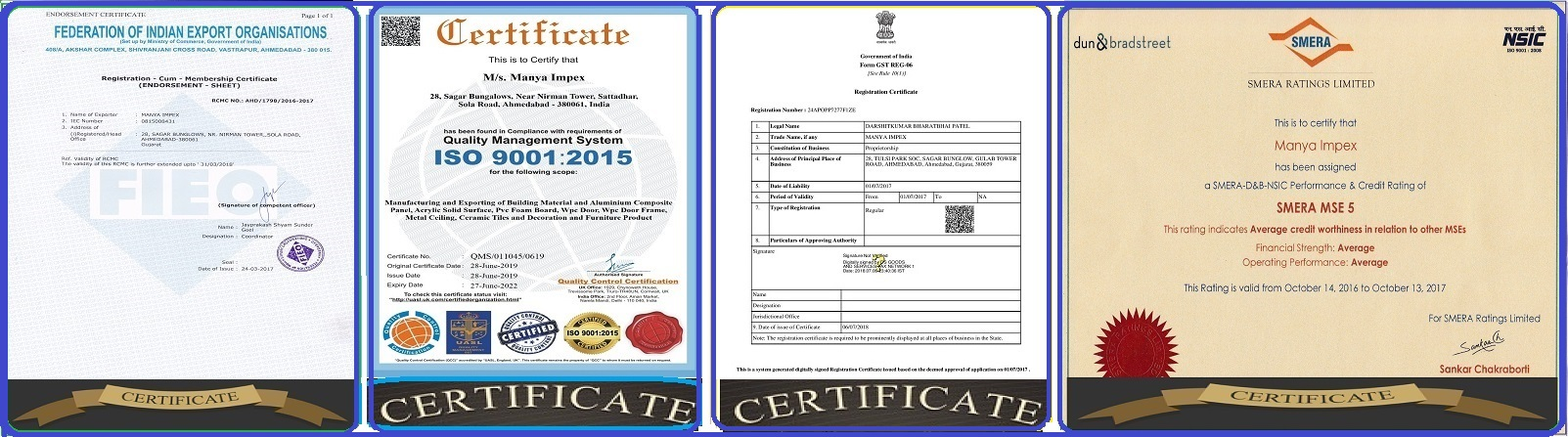 Our Company Certifiation